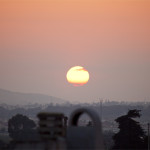 Solnedgång från takterassen