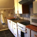 Köket i enrummaren på Wärmagård 3B