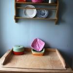 Bakbordet i köket. Här bakar vi mycket av de bröd som serveras.